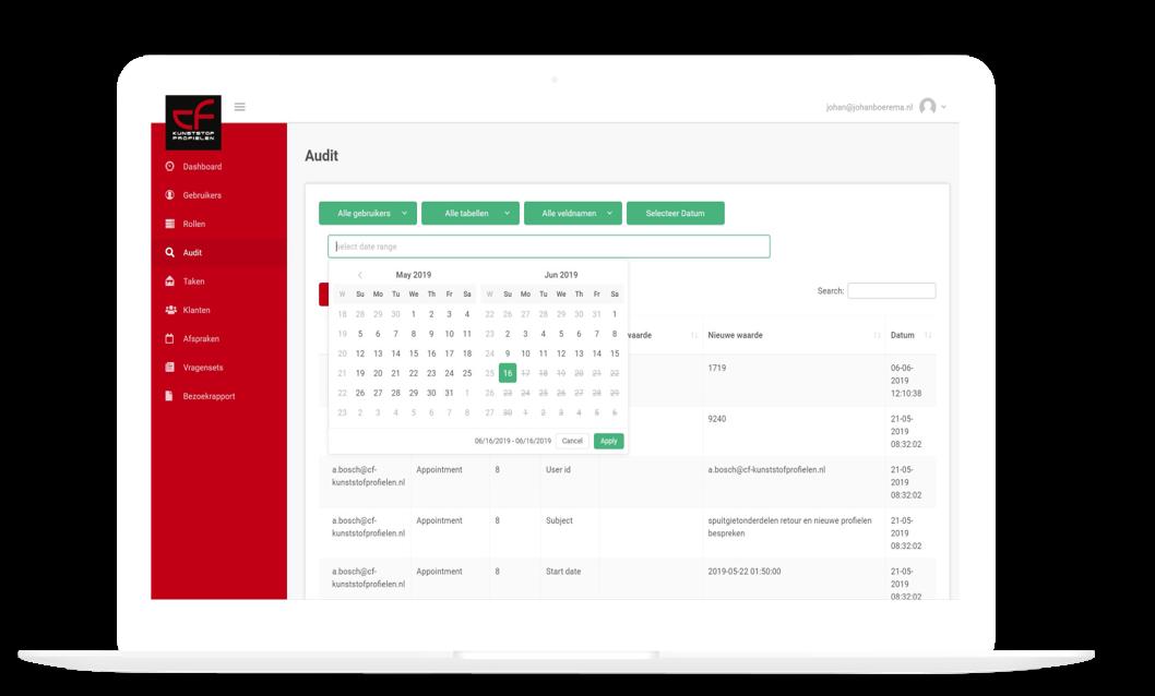 Audit functie datum selectie