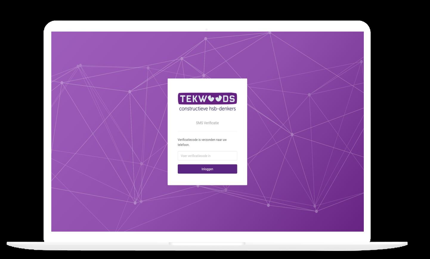 inlog sms verificatie Tekwoods